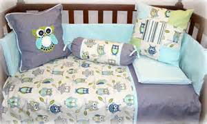 Plain Cot Bed Duvet Cover Owls Tula Tu Baby Linen