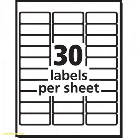 avery templates for 30 labels per sheet worksheet templates avery 30 labels per sheet template