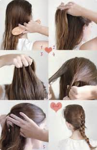 how to do easy hairstyles for step by step 9 easy and cute french braided hairstyles for daily