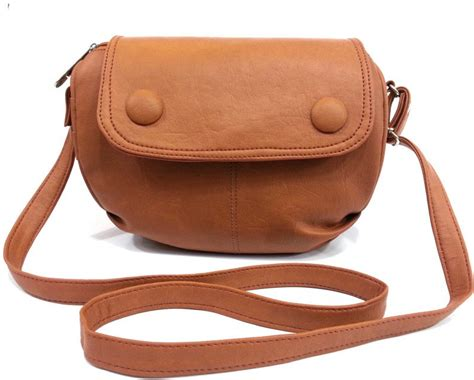 Slingbag Fashion Set Murah 1 leather land brown leatherette sling bag brown 9 price in india flipkart