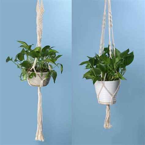 Jual Macrame Tali Pot macrame plant hanger pot holder polypropylene fiber rope handmade garden home decoration flower
