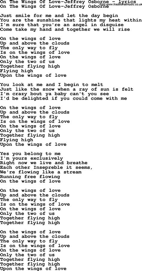 images of love lyrics love song lyrics for on the wings of love jeffrey osborne