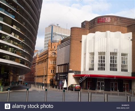 leicester athena 8 th the curve theatre and athena in the cultural quarter of leicester stock photo royalty free