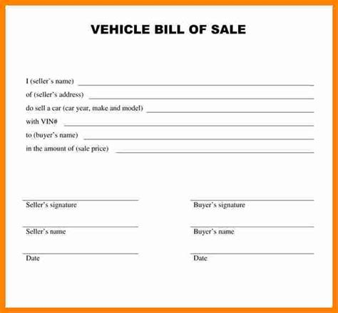 printable georgia vehicle bill of sale bill of sale
