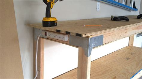 home made work bench diy workbench with both hands