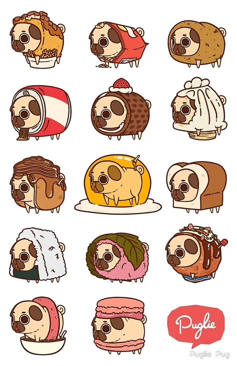 Home Decor Richmond by Quot Puglie Food 2 Quot By Puglie Pug Redbubble