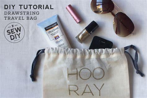 Diy String Tutorial - diy tutorial drawstring travel bag with free design