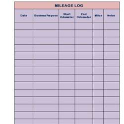 mileage log templates 30 printable mileage log templates free template lab