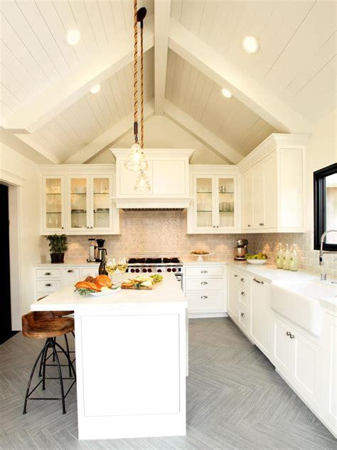 natural materials create farmhouse kitchen design hgtv photos hgtv white farmhouse kitchen with vaulted beadboard