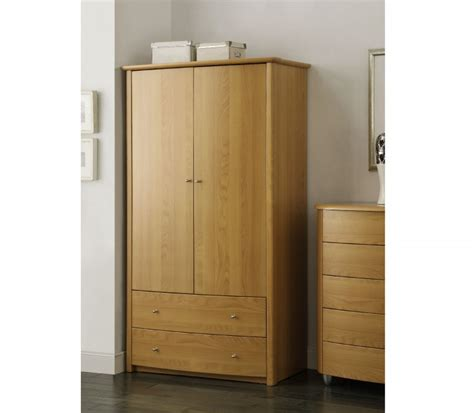 Wardrobe Combinations by Birlea Aztec Beech 2 Door 2 Drawer Combination Wardrobe By