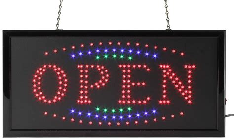 flashing lights for signs open led flashing sign radiating red blue green animation