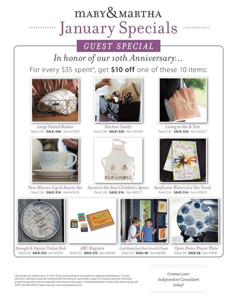 find local mary martha consultants direct sales aid mary martha spring 2017 my favorite things bonny buckner