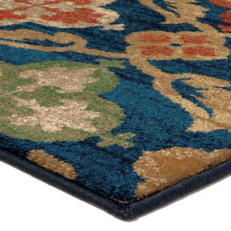 orian rugs bright color medallion tuscan field blue area