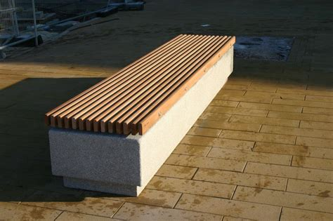 concrete benches uk the concrete soca bench features profiled fsc 174 timber