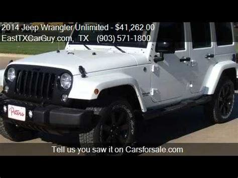 Jeep Wrangler Unlimited Altitude For Sale 2014 Jeep Wrangler Unlimited Altitude For Sale In Longview