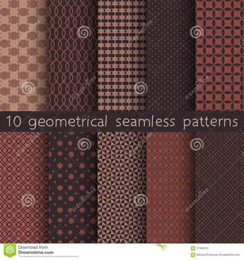 texture pattern swatches 10 geometrical seamless patterns pattern swatches vector
