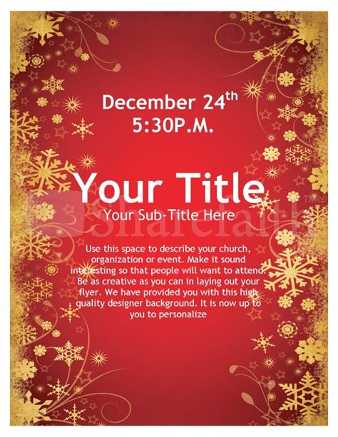 joy of christmas flyer template flyer templates