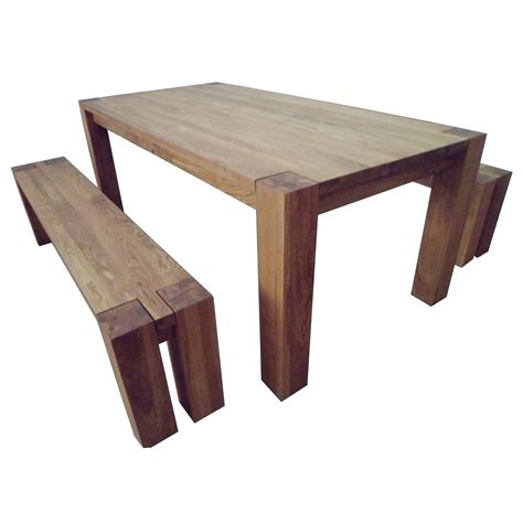rectangle table with bench braemar rectangular oak wood dining kitchen table