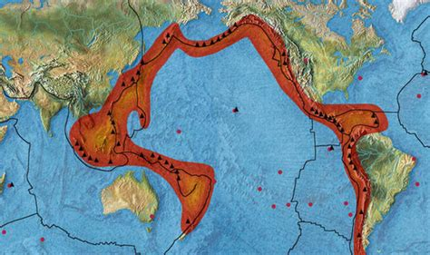 earthquake ring of fire quakes shake pacific plate as ring of fire activity