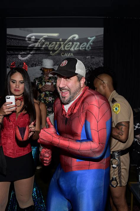 joey fatone as spider man all the 2014 celebrity halloween costumes popsugar celebrity