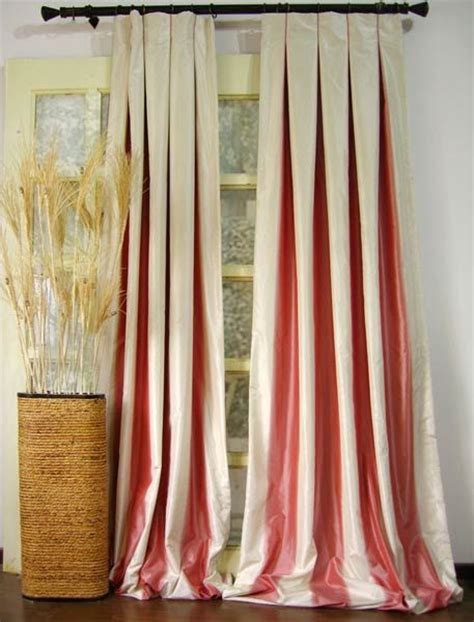 Silk Window Treatments Beautiful Box Pleated Panels With Contrasting Inserts