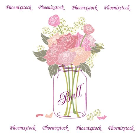 Jar Wedding Clipart by Jar Flower Clipart Clipartxtras