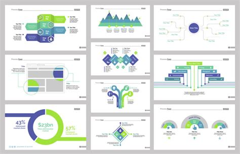 Ten Workflow Slide Templates Set Vector Free Download Workflow Template Free