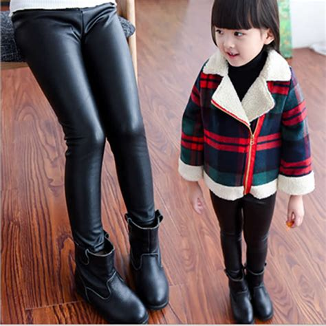 Legging Fashion Baby Sorex K5303 baby legging fashion length faux pu plus velvet leather