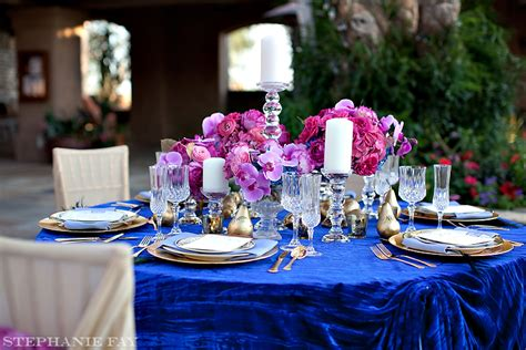 image royal blue wedding blue fuschia pink image