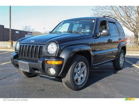 black jeep liberty 2003 black clearcoat 2003 jeep liberty limited 4x4 exterior