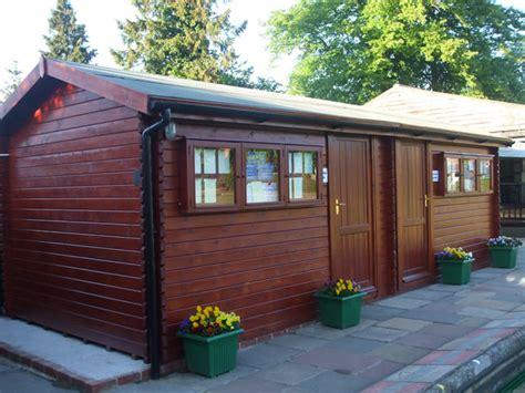Log Cabin Maintenance by Garden Building Modular Larch Apex Barn Garden Rooms