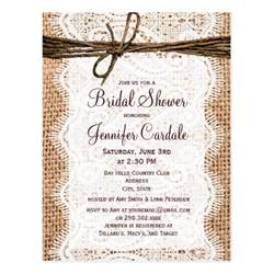 rustic burlap bridal shower invitation postcard zazzle