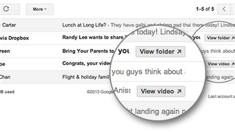 dropbox quick action button gmail adds quick action buttons for youtube dropbox