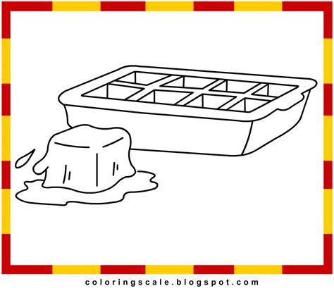 coloring pages printable for kids ice cubes coloring