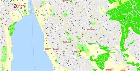 printable map zurich printable map zurich switzerland gvl 17 ai sc6 ai pdf cdr 12