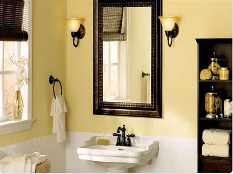 best color for a small bathroom best wall color for small bathroom yellow 05