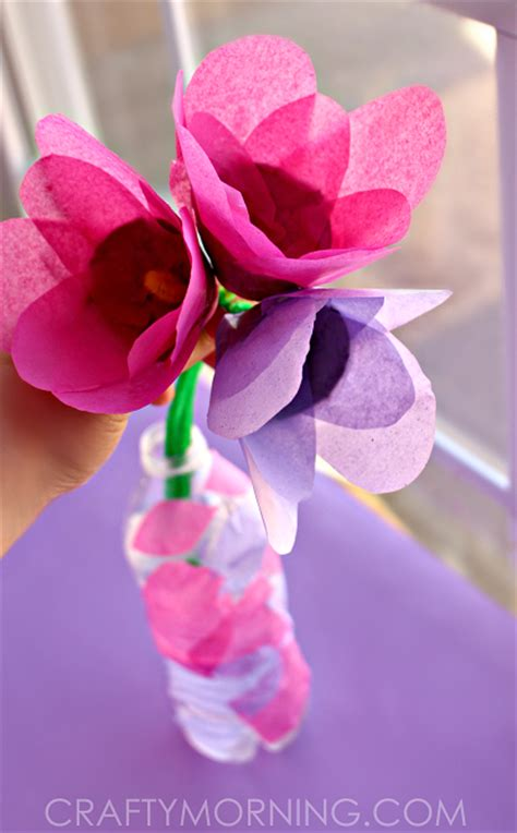 Tissue Paper Flowers Craft - easy s day cards crafts for to make crafty