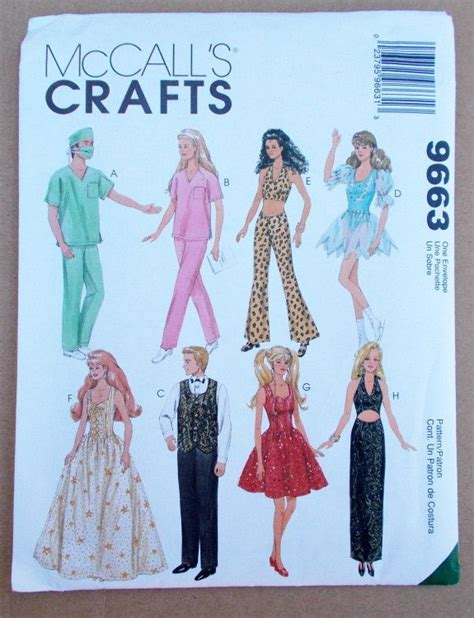 fashion doll sewing patterns 7 best for images on clothes