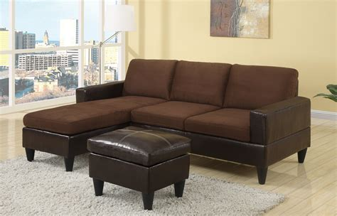 Sectional Sofa Set F7291 Chocolate Sectional Sofa Set By Poundex