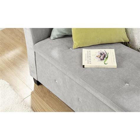 bench seat storage box verona chenille diamante window seat ottoman storage box
