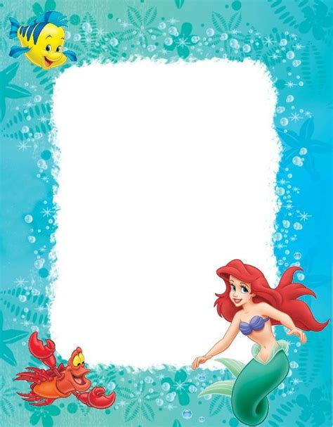 Wall Border Anak Murah Mermaid ariel borders images frompo 1