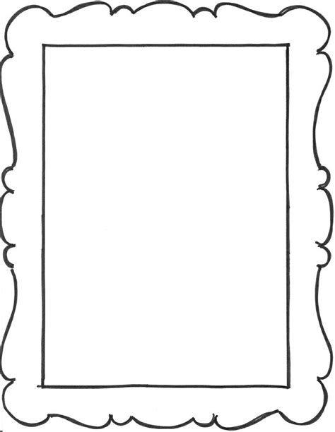 free printable picture frame templates parchment clip cliparts co