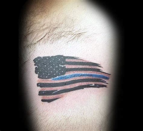small american flag tattoo 50 thin blue line designs for symbolic ink ideas