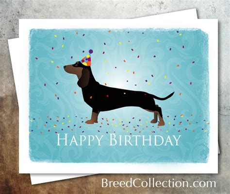 printable birthday cards with dogs dachshund black and tan dog birthday card from the breed