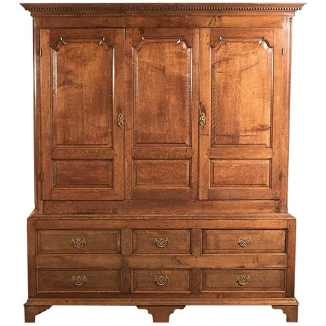 large georgian antique wardrobe linen press cabinet
