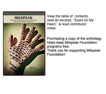 milspeak creative writing seminar handbook 2009mcws table of contents writers gallery milspeak creative writing seminars