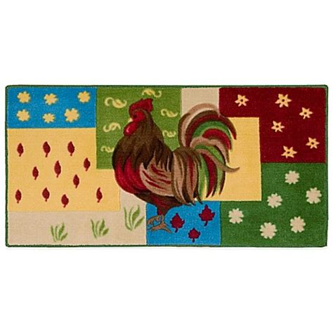 Nourison Kitchen Rugs Nourison 3 Foot 4 Inch X 1 Foot 10 Inch Rooster Kitchen Rug Bed Bath Beyond