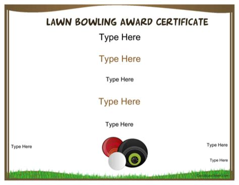 bowling certificate template for free formtemplate