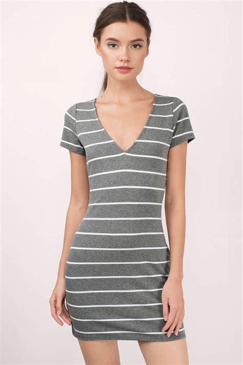 Striped T Shirt Dress black and white dress v dress black dress
