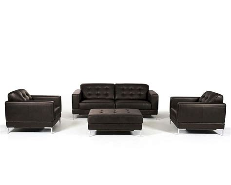 contemporary sofa sets contemporary italian leather sofa set 44l5969